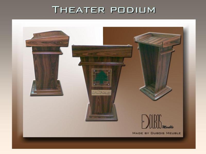 Theater podium