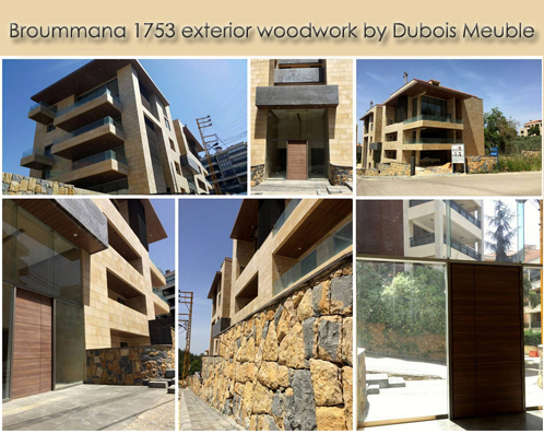 exterior woodwork – Broummana 1753